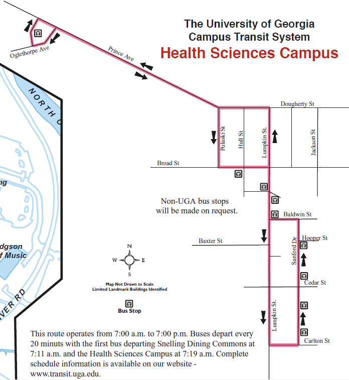Screenshot of Health Science Connector map.
