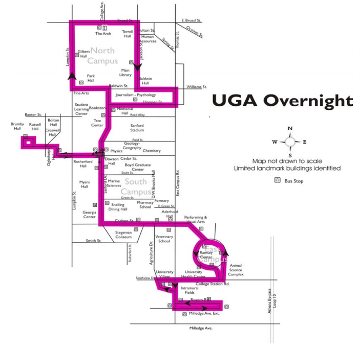 Screenshot of overnight route map.